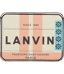 lanvin wallet in multicolor leather