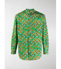 comme des garçons shirt geometric print shirt