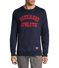 embroidered cotton blend sweatshirt