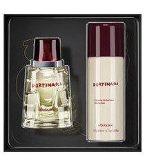 kit presente boticollection portinari: desodorante colônia 100ml + espuma de barbear 200ml