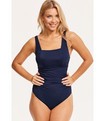 rene underwire square neck tummy control one-piece swimsuit d-gg