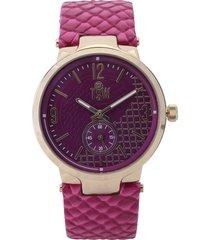 reloj violeta-dorado technosport