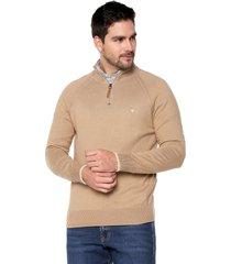 sweater arena 19 preppy m/l dos colores c/alto media cremallera