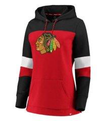majestic chicago blackhawks women's colorblocked fleece sweatshirt