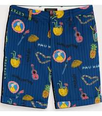 scotch & soda all-over printed chino shorts