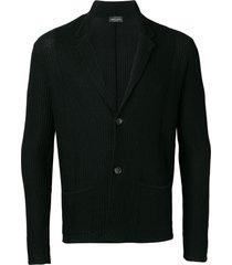 roberto collina basic v-neck cardigan - black