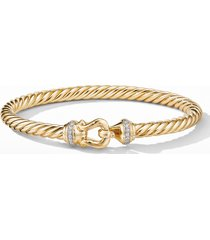 david yurman cable buckle bracelet with diamonds, size medium in gold/diamond at nordstrom