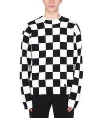 kenzo checked sweater
