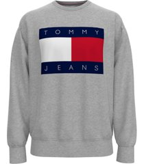 tommy hilfiger men's tommy jeans lucca regular-fit logo graphic sweatshirt