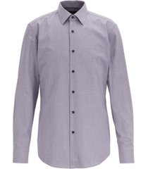 boss men's jano slim-fit micro-patterned cotton twill shirt