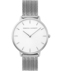 rebecca minkoff women's major stainless steel mesh bracelet watch 35mm