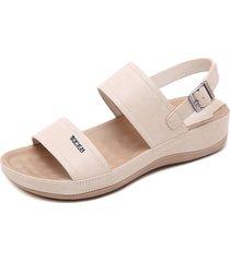sandalias de plataforma con hebilla metálica casual para mujer