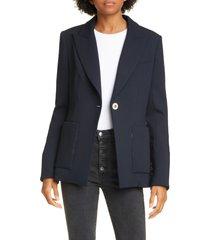 women's veronica beard kayden dickey jacket, size 10 - blue