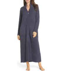 women's barefoot dreams cozychic(tm) full zip robe, size small/medium - blue