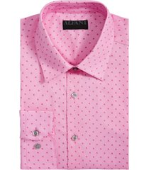 alfani men's alfatech classic/regular-fit performance stretch shadow box dress shirt, created for macy's