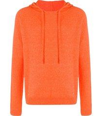 lanvin fine knit hoodie - orange