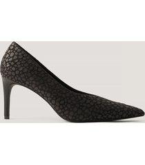 na-kd shoes spetsiga pumps med v-skärning - black