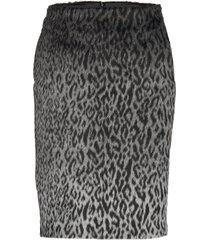 karl x carine leopard skirt kort kjol multi/mönstrad karl lagerfeld