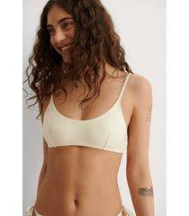 na-kd swimwear återvunnen bikinitopp - offwhite