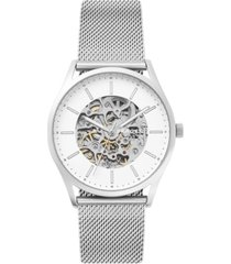 skagen men's automatic holst stainless steel mesh bracelet watch 40mm, a limited edition