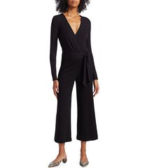 bailey 44 women's bethany cropped jumpsuit - black - size s