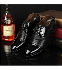 zapatos de vestir de cuero para hombres elegante formal oxford zapatos