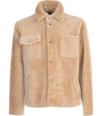 jacket w/fur