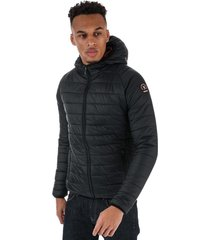 henleys mens carlyon hooded puffa jacket size s in black