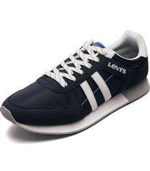 tenis azul-blanco levis webb