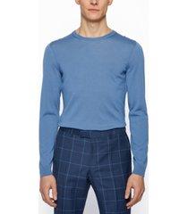 boss men's virgin-wool slim-fit sweater