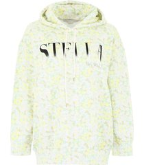stella mccartney floral-printed hoodie