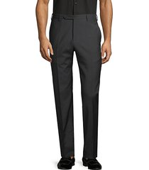 parker flat-front wool trousers