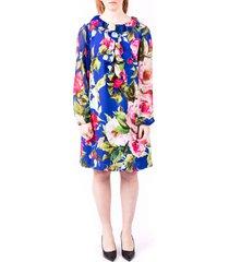 blugirl viscose floral dress