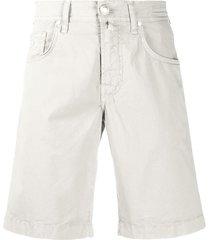 jacob cohen straight-leg denim shorts - grey