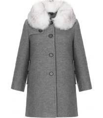 płaszczyk wełniany wool grey
