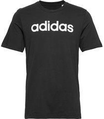 e lin tee t-shirts short-sleeved svart adidas performance