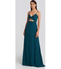 trendyol binding detailed evening dress - green