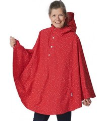 happyrainydays poncho poncho cape rachel dot red off white