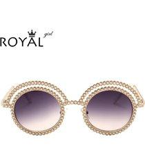 pretty women pearl sunglasses metal round unique frames sun glasses shades ss677