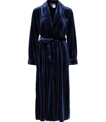 lrl essential long shawl collar robe morgonrock blå lauren ralph lauren homewear