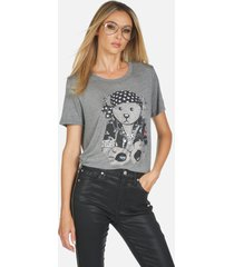 capri crystal rocker teddy - heather grey xl