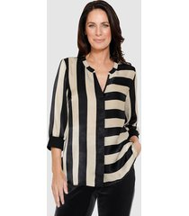 blouse mona zwart::beige