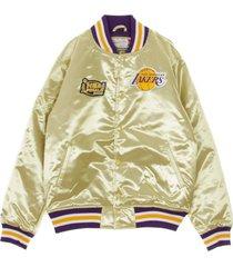 loslak nba championship game satin jacket bomber jacket