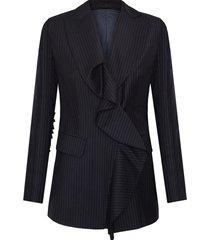 marynarka wool frill jacket