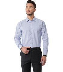 camisa formal spandex a rayas azul arrow