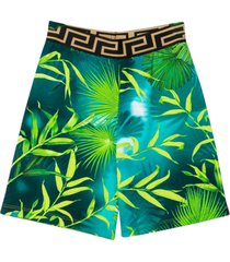 young versace shorts with multicolor press
