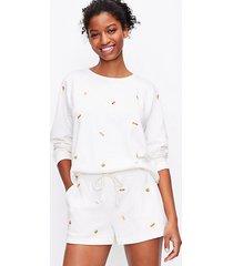loft petite lou & grey bbq cozy cotton terry sweatshirt