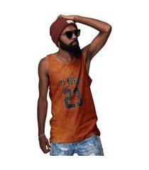 camiseta regata laranja ferrugem number 23