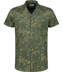 dstrezzed overhemd groen bloemenprint 311210/511