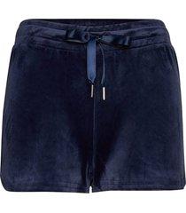 cecilia velour shorts shorts flowy shorts/casual shorts blå gina tricot